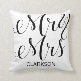 Mr. & Mrs. | Custom Name Throw Pillow
