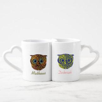 mr mrs cute owls couples mug
