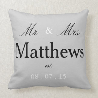 Mr & Mrs est. pillow