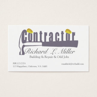 Mr & Mrs. Handyman Construction Contractor Builder Business Card