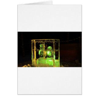 Mr & Mrs Snowman Greeting Card