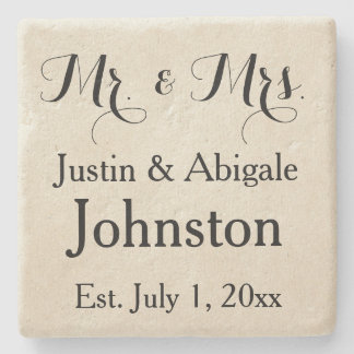 Mr. & Mrs. Stone Coaster