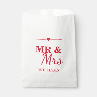 Mr. & Mrs. Wedding Favour Bags