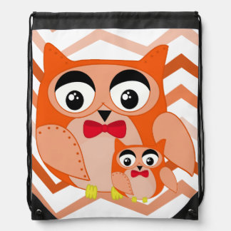 Mr owl is a cute orange and brown owl illustration backpacks