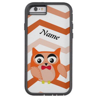 Mr owl is a cute orange and brown owl illustration tough xtreme iPhone 6 case