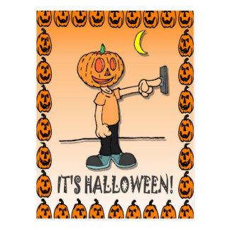 Mr Pumpkin head Postcard