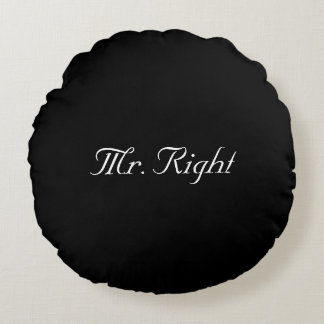 Mr. Right newlywed pillow