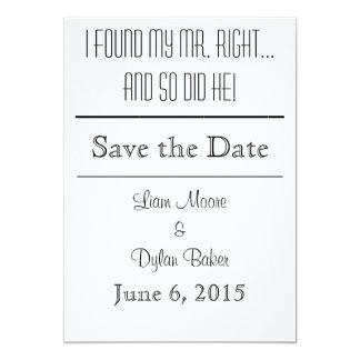 """Mr. Right"" Save the Dates 5x7 Paper Invitation Card"