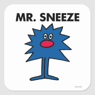 Mr. Sneeze | Jagged-Edged Body Square Sticker
