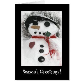 Mr. Snowman Season's Greetings Card