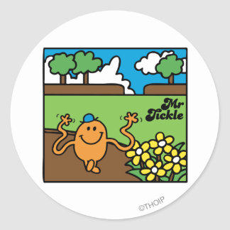 Mr. Tickle | Outdoor Fun Classic Round Sticker
