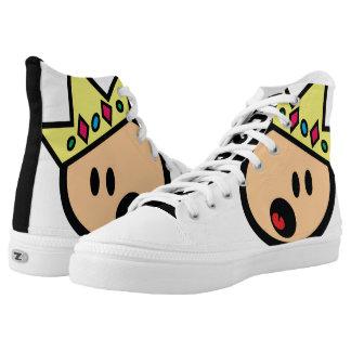 Mr. White Kiks Printed Shoes