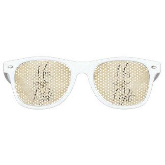 Mrs Always Right linen pattern Retro Sunglasses