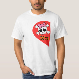 MRS AND MR,MARRIAGE,NEWLY MARRIED COUPLE T-SHIRTS