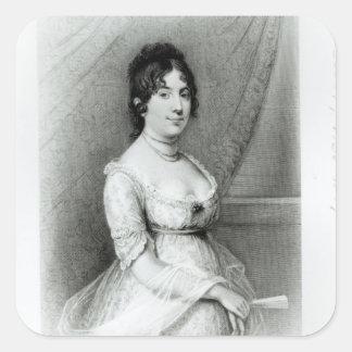 Mrs James Madison, Dolley Payne , c.1804-55 Square Sticker