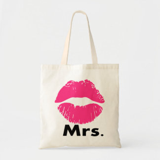 mrs.,just married,newly wed,wedding anniversary budget tote bag