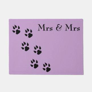 Mrs & Mrs / pawprints Doormat