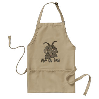 Mrs Old Goat Funny Cartoon Standard Apron