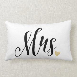 Mrs. Wedding and Anniversary Lumbar Cushion
