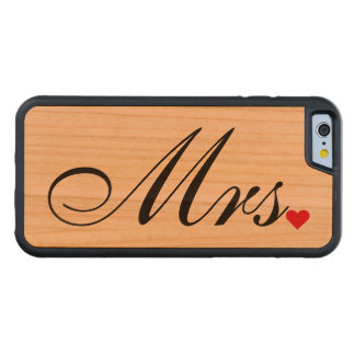 Mrs Wife Bride Wedding Couples iPhone Wood Case