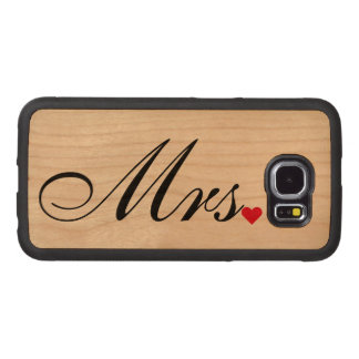 Mrs Wife Bride Wedding Couples Samsung Wood Case