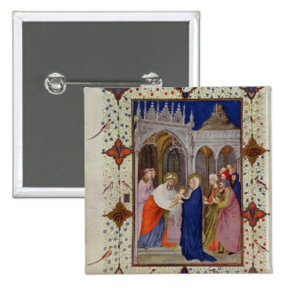 MS 11060-11061 Hours of Notre Dame: None, The Pres 15 Cm Square Badge