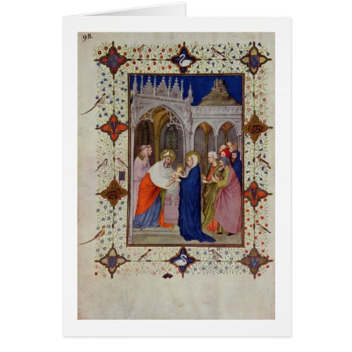 MS 11060-11061 Hours of Notre Dame: None, The Pres Greeting Card