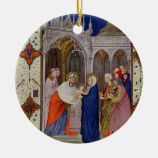 MS 11060-11061 Hours of Notre Dame: None, The Pres Christmas Ornament