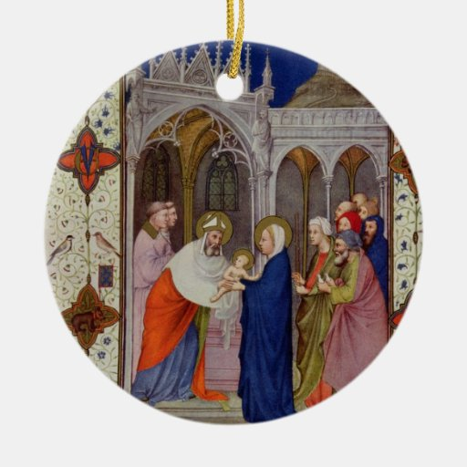 MS 11060-11061 Hours of Notre Dame: None, The Pres Ornaments