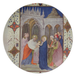 MS 11060-11061 Hours of Notre Dame: None, The Pres Dinner Plates
