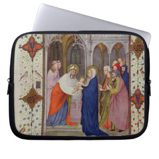 MS 11060-11061 Hours of Notre Dame: None, The Pres Laptop Sleeve
