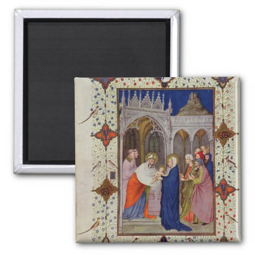 MS 11060-11061 Hours of Notre Dame: None, The Pres Refrigerator Magnet