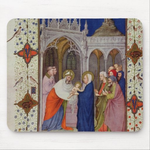 MS 11060-11061 Hours of Notre Dame: None, The Pres Mouse Pads