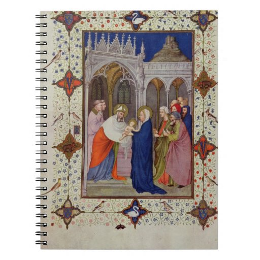 MS 11060-11061 Hours of Notre Dame: None, The Pres Spiral Note Book