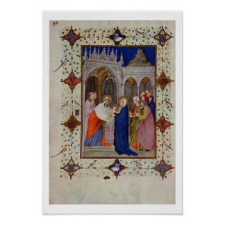 MS 11060-11061 Hours of Notre Dame: None, The Pres Poster