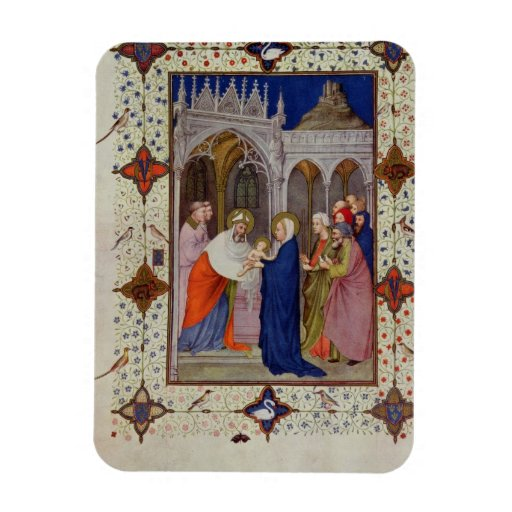 MS 11060-11061 Hours of Notre Dame: None, The Pres Rectangle Magnet