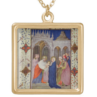 MS 11060-11061 Hours of Notre Dame: None, The Pres Square Pendant Necklace