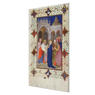 MS 11060-11061 Hours of Notre Dame: None, The Pres Stretched Canvas Prints