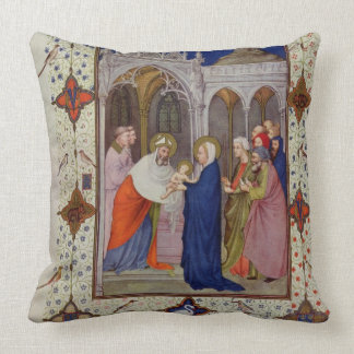 MS 11060-11061 Hours of Notre Dame: None, The Pres Throw Pillow