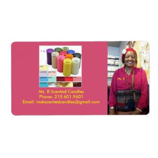 Ms. B. Return Address Label