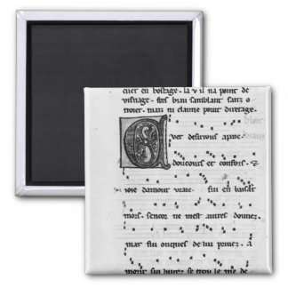 Ms.Fr 844 fol.138v Song by Blondel de Nesles Magnet