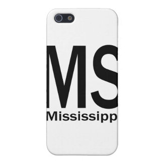 MS Mississippi plain black iPhone 5 Case