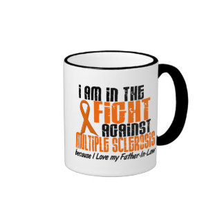 MS Multiple Sclerosis IN THE FIGHT FATHER-IN-LAW Ringer Mug