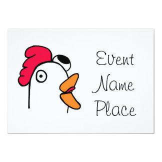 Ms. Rude Chicken Head Inviataion Card
