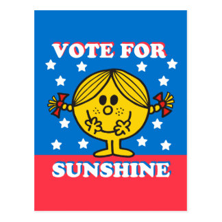 Ms. Sunshine Election - Vote For Sunshine Postcard