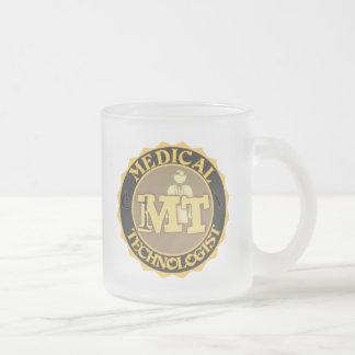 MT BADGE LOGO - MEDICAL TECHNOLOGIST - LABORATORY FROSTED GLASS MUG