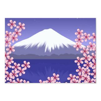 Mt. Fuji and Sakura Blossoms 13 Cm X 18 Cm Invitation Card