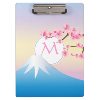 Mt Fuji Plum Blossoms Spring Japanese Umenohana Clipboard