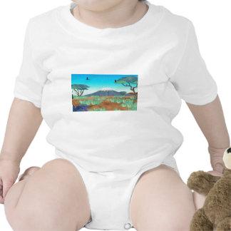 Mt Kilimanjaro Baby Bodysuits