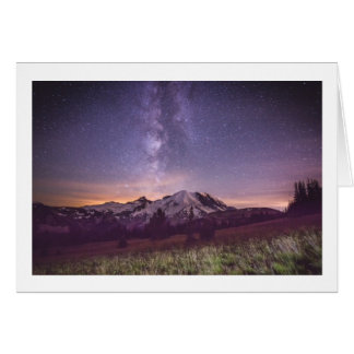 Mt. Rainier Milky Way Card